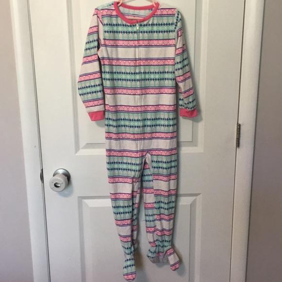 Fair Isle 3T Carters Little Girls Print Fleece Footie